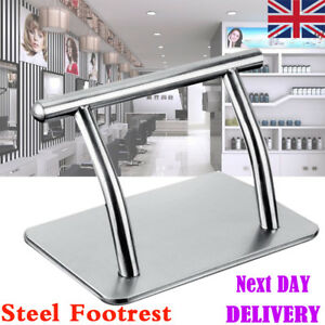 1 Stainless Steel Footrest Salon Tattoo Hairdressing Barbers Equipment Foot Rest
