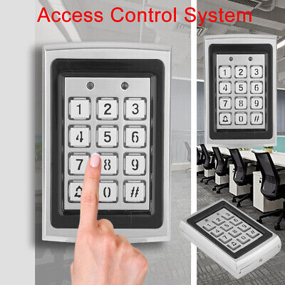 Metal RFID Reader Proximity Card Door Access Control Password Keypad W/Backlight Proximity Card Reader