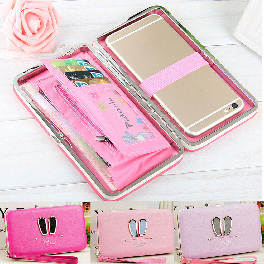 US FAST Women Lady Leather Wallet Purse Long Card Holder Clutch Box Bag Phone Clothing, Shoes & Accessories