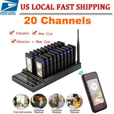 20 Restaurant Coaster Pager Guest Keypad Wireless Calling Paging Queuing System