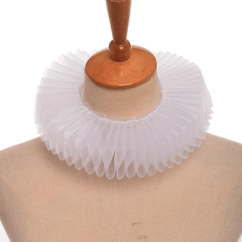 Victorian White Ruff Collar Elizabethan Detachable Collar Party