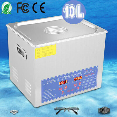 Stainless Steel 10l Liter Industrial Ultrasonic Cleaner Heater Machine Wtimer