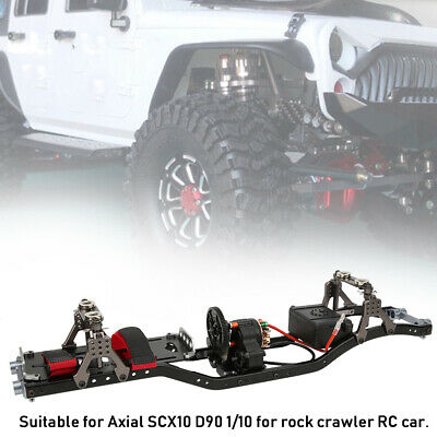 Carbon Fiber Metal Car Frame for 1/10 Scale Axial SCX10 D90 RC Crawler Car segunda mano  Embacar hacia Spain