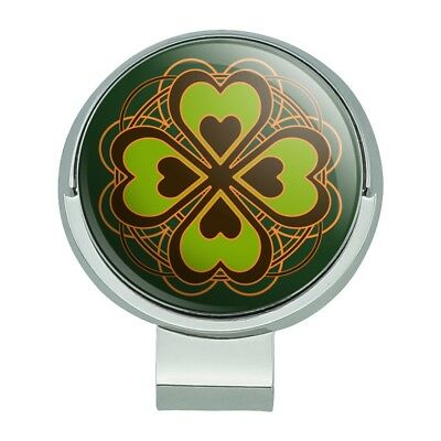 Four Leaf Clover Lucky Golf Hat Clip With Magnetic Ball Marker