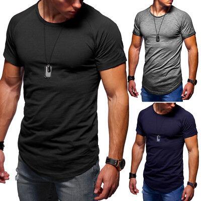 BEHYPE Herren Longline T-Shirt Clubwear Oversize Oval Longtee Longshirt NEU