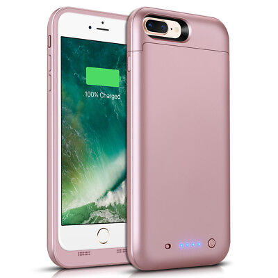 Case For iPhone 8 Plus 7000mAh External Battery Charging Cover Power Bank