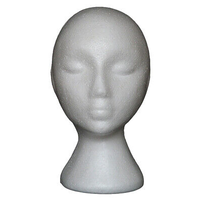 10 Abstract Styrofoam Foam Mannequin Head Model Wig Hat Glasses Display Stand