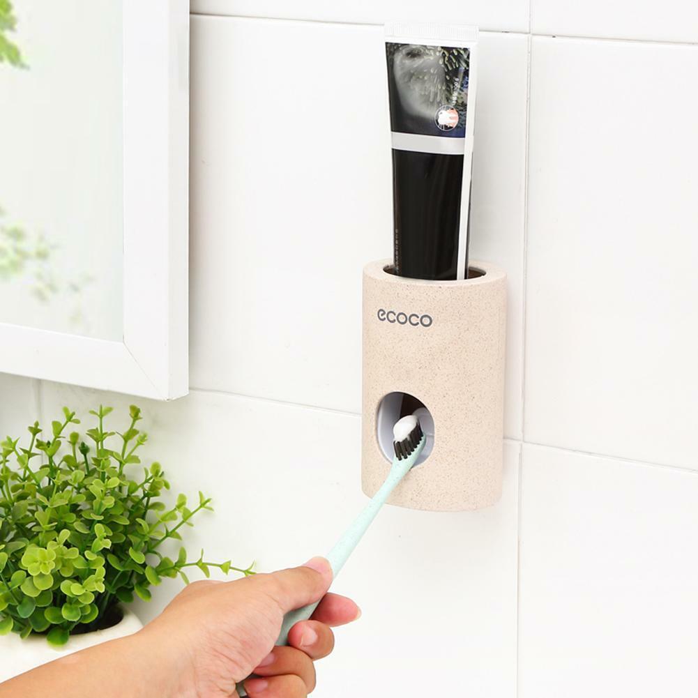Toothpaste Squeezer Automatisch Zahnpastaspender Wandhalterung Zahnbürstenhalter