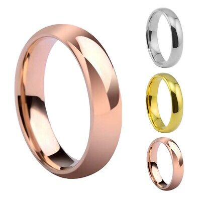 6mm Stainless Steel Ring Women Men Wedding Band Jewelry Size US 7-11 Welcome Fashion Jewelry