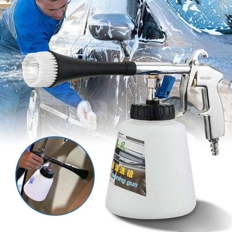 High Pressure Car Air Pulse Cleaning Gun Brush Tornado Washer Foam Care Tool Q1R