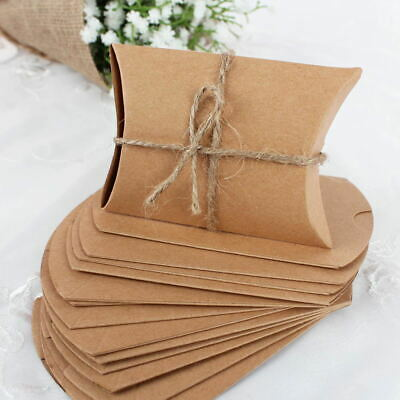 100x Wedding Favor Paper Kraft Sweet Candy Box Gift Boxes for Birthday Party