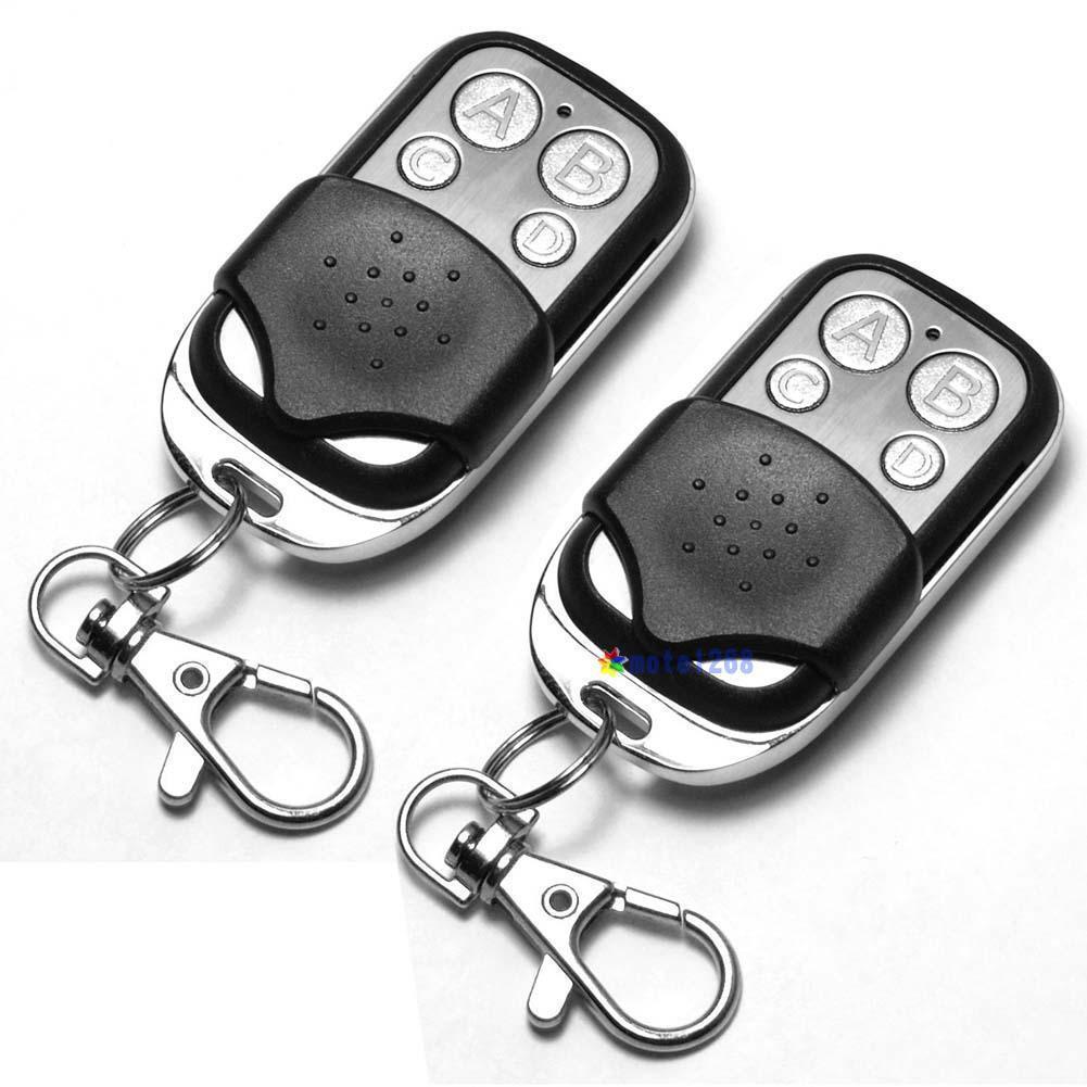 2 x Universal Cloning Remote Control Key Fob for Car Garage Door 433mhz MT