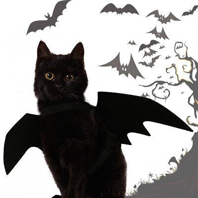Halloween Pet Dog Cat Black Bat Wings Vampire Costume Dress Up Clothes Healt - Bat Wings Dog Costume