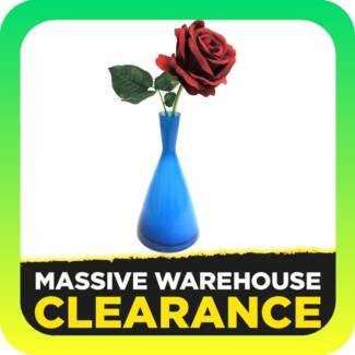 24cm Blue Glass Vase (Home Decor Clearance)