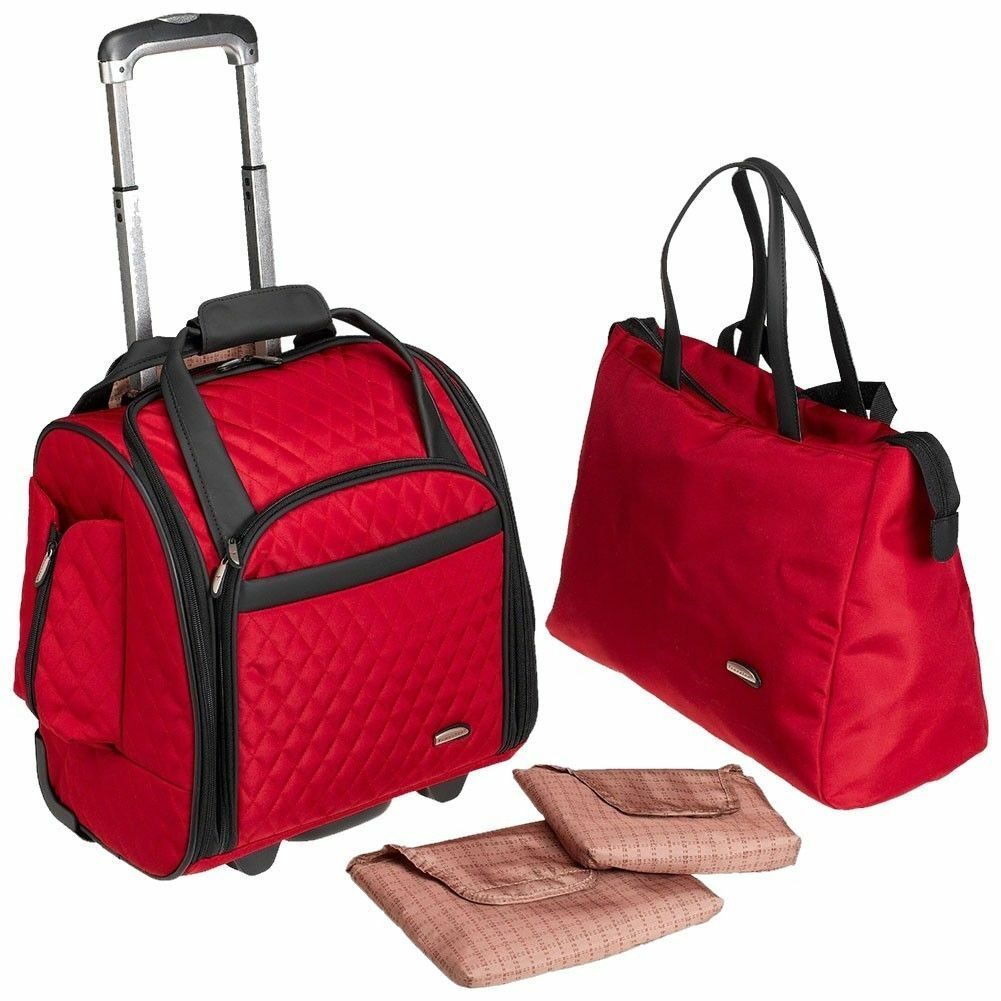 New Travelon Wheeled Underseat Carry-On Luggage with Back Up
