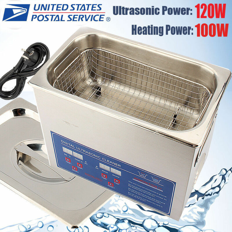 3L Liter Heated Ultrasonic Cleaner Heater Timer Industry Stainless Steel