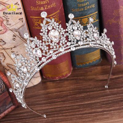 Crystal Tiara Crown Wedding Bridal Hair Accessory Birthday Prom Headpiece - Tiara Birthday