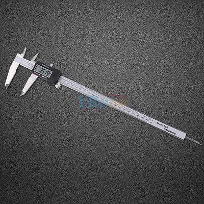 New 12 300mm Electronic Digital Vernier Caliper Micrometer Large Lcd Display