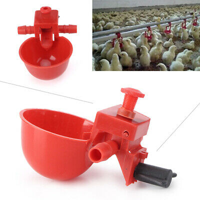 5 Pack Poultry Water Drinking Cups- Plastic Chicken Hen Automatic Drinker