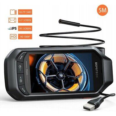 Depstech Ds450 Endoscope 1080p Hd Inspection Semi-rigid Snake Camera Borescope
