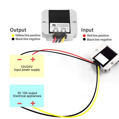 12v24v Dc To 5v 10a 50w Buck Voltage Converter Module Volt Regulator Part