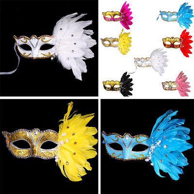 Sexy Feder Maskerade Maske Prinzessin Halloween Feather Masken Weihnachten (Maskerade Feather Masken)