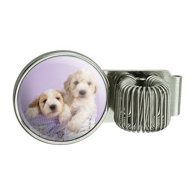 Spoodle Cockapoo Puppies Dogs Wicker Basket Planner Journal Book Pen Holder Clip
