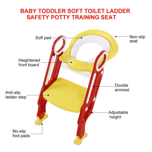 Soft Kids Potty Training Seat With Step Stool Ladder Child Toddler Toilet Chair - $26.69