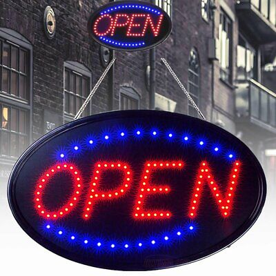 LED Ultra Bright Neon Light Sign OPEN Store Animated Motion Business Bars Cafes (Led Light Sign Led)