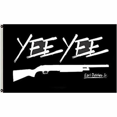 90*150cm Earl Dibbles Jr Black Hunting Deer Flag 3'x5' Banner Grommets YEE YEE for sale  China