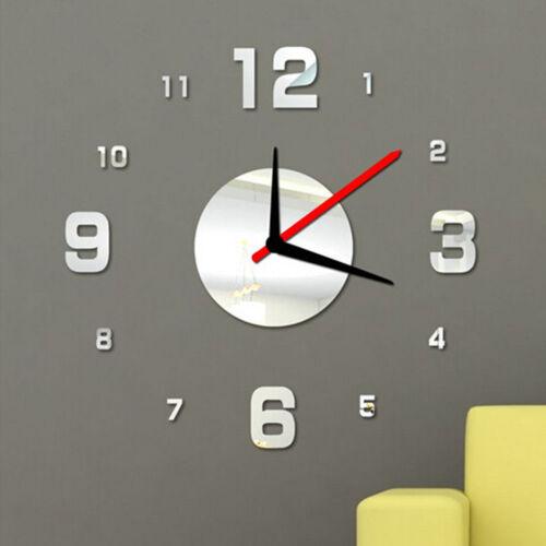 DIY Modern Wall Clock 3D Mirror Surface ...