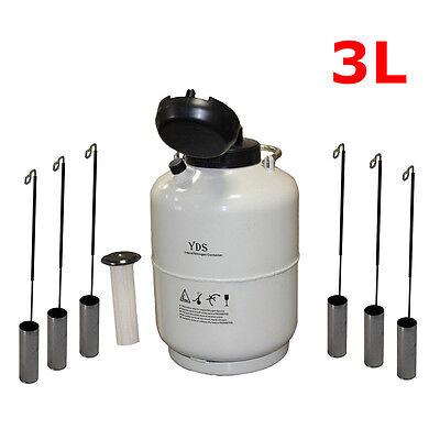New Liquid Nitrogen Tank Cryogenic Container Ln2 Dewarlock Cover 6pcs Pails 3l