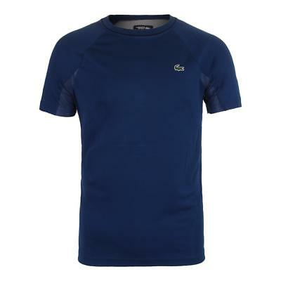 Mens Lacoste Sport Novak Djokovic Supporter Collection Blue Jersey Shirt