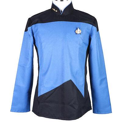 Star Trek Next Generation Halloween Costume (Halloween Cosplay Costume Star Trek TNG The Next Generation Blue Uniform)