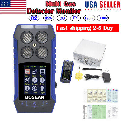 4in1 Multi Gas Detector Monitor O2 H2s Co Oxygen Ex Combustible Meter Analyzer