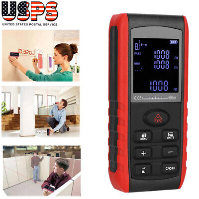 Handheld Digital Laser Distance Meter Range Finder Measure Diastimeter 60m
