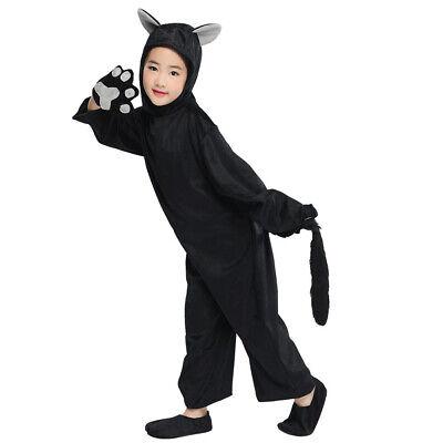 Child Black Cat Costume Book Week Animal Kids Zoo Party Boys Girls