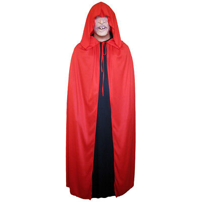 Red Cloak with Large Hood ~ HALLOWEEN VAMPIRE MEDIEVAL RENAISSANCE COSTUME CAPE](Red Cloak Costume)