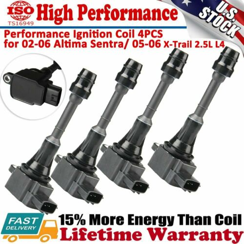 Nissan Sentra X-Trail Nissan Sentra SE-R L4 2.5L Ignition Coil Packs of 4 for Nissan Altima