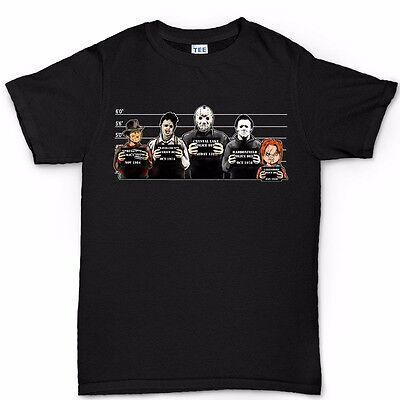 The Usual Horror Suspects Classic Halloween Movie Costume Mask T shirt Top Tee