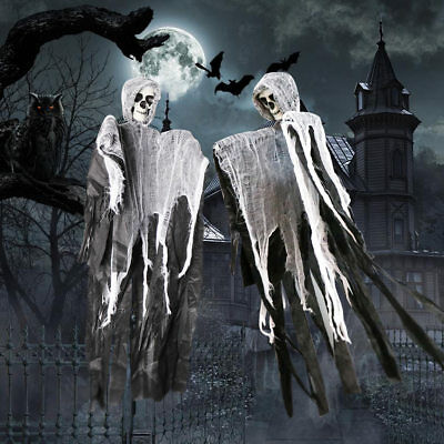 DIY Halloween Hanging Ghost Decorations Grim Reaper Haunted House Door Prop - Grim Reaper Decorations