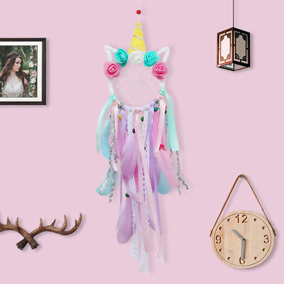 Handmade Unicorn Dream Catcher Crochet Web Boho Chic DreamCatcher Baby Gift