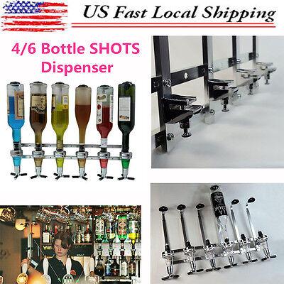 4/6Bottle Bar Butler Wall Mounted Wine Drink Liquor Cocktail Beer Shot Dispenser