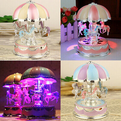 8 Year Old Girl Toys (LED Music Box Toys for Girls Merry-Go-Round 6 7 8 9 10 11 Year Old Kid)