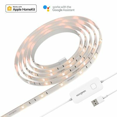 Koogeek Dimmable Smart LED Light Strip, Siri Timer Remote Control, 16000K Colors