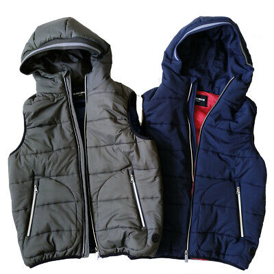 Men's Hooded Vest Cotton Padded Waistcoat Jacket Body Warmer Gilet Quilted Coat