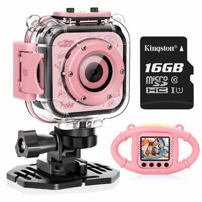 VanTop Junior K3 Kids Camera 1080P Video Camera with Memory Card kids Case Bag