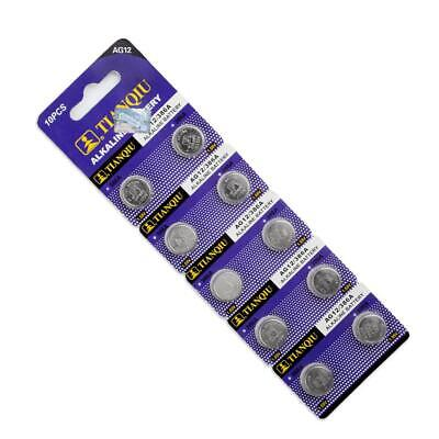 10pcs ag12 lr43 386 sr43 sr1142pw 386b alkaline button coin cell watch...