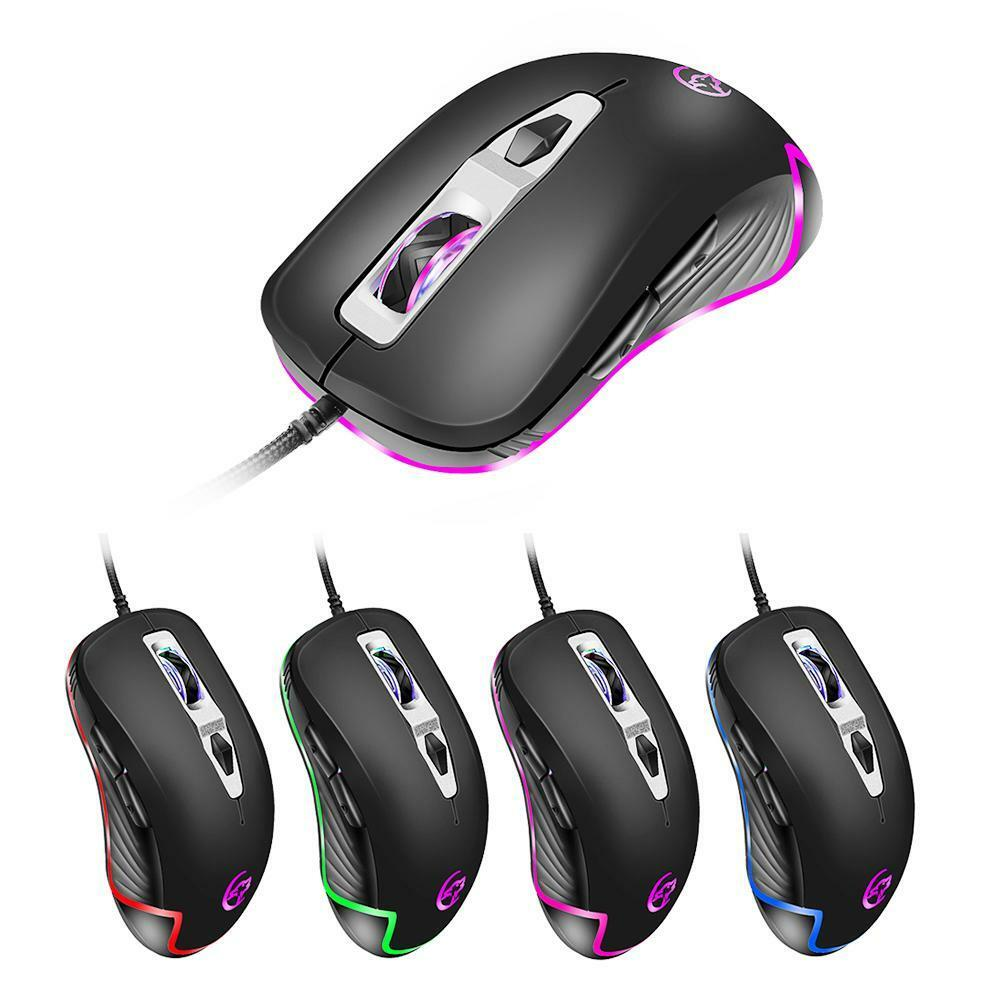 USB Wired Gaming Mouse 3200 DPI Adjustable 7 Buttons Optical Mice for Laptop Lot