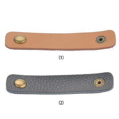 2X Leather Headphone Earphone Cable Tie Cord Organizer Wrap Winder Holder Useful
